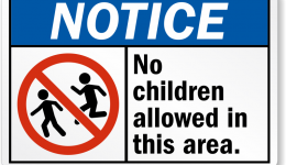 notice-no-children-allowed