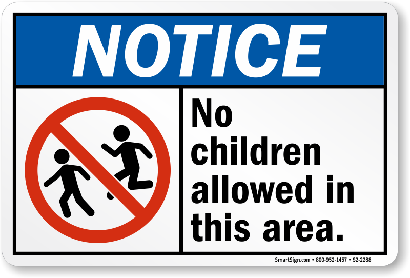 notice-no-children-allowed